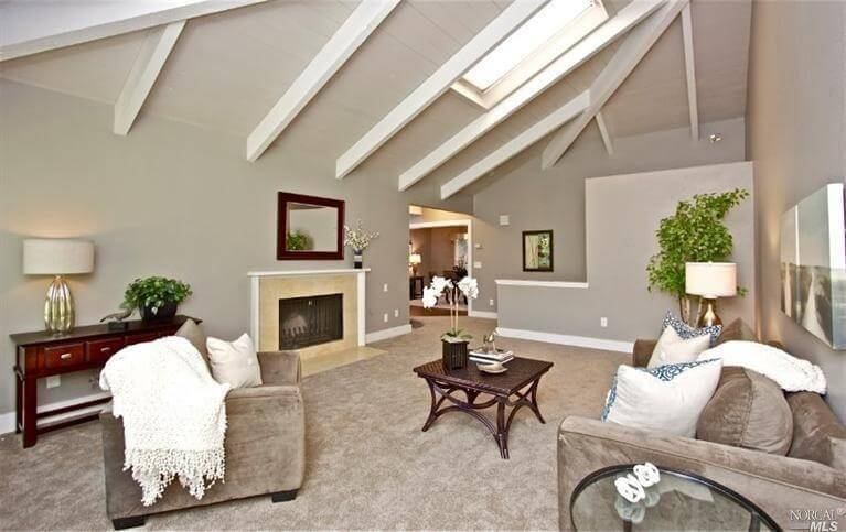 Here is a another room with a skylight to maximize natural light. Any way you can maximize the natural light in your room is a good option for lighting. Everything just looks better drenched in natural sunlight.