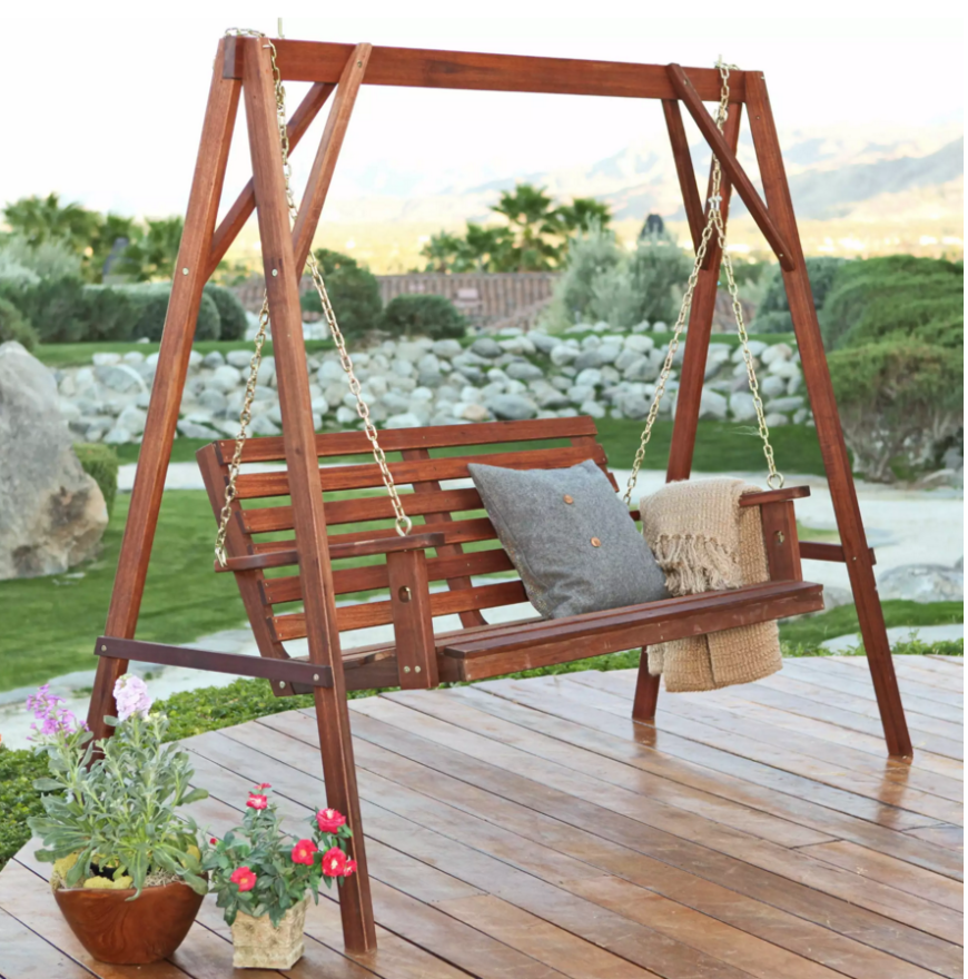 Classics are classics for a reason. This porch swing is a classic and simple design that fits well on any porch.