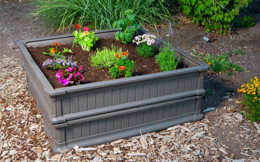With small garden beds such as this, you can buy several to increase the size of your garden without building a permanent structure