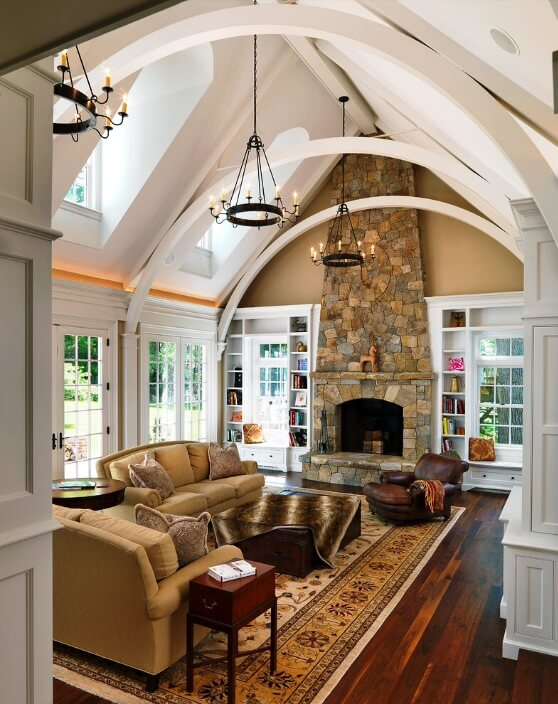 Your exposed beams don't have to be left with their natural wooden tones and textures. The great thing about wood is that it can always be painted, so with a bit of work, you can color your exposed beams any way that you wish.