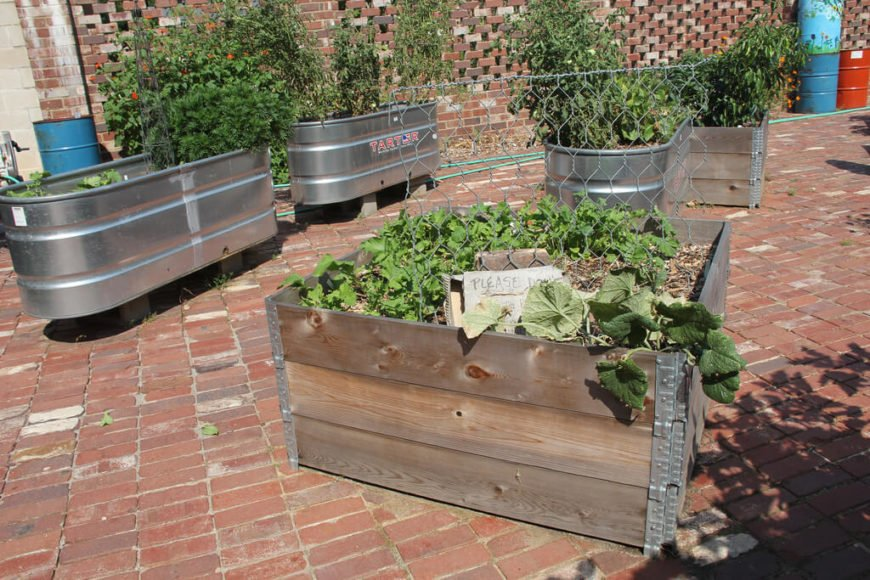 Metal tub beds are great for areas where you may not have the opportunity to landscape, such as an urban setting. With a few of these metal tubs, you can have a nice sized garden in no time, with very little effort.