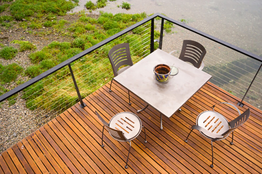 Cable railings are great for decks that overlook fantastic views. They also look amazing indoors in modern or minimalist homes.