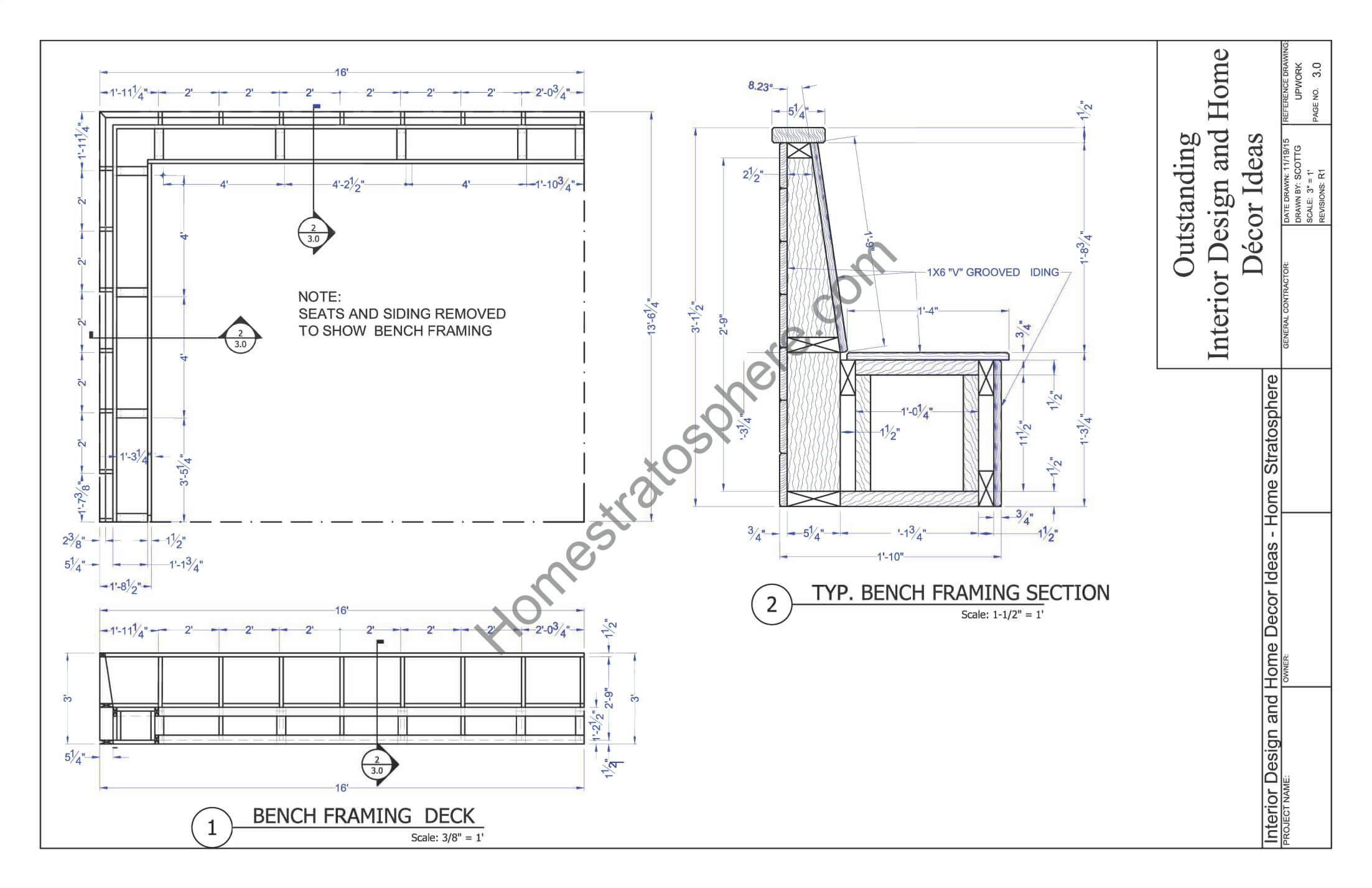 Bench Framing for Deck Built-In Benches