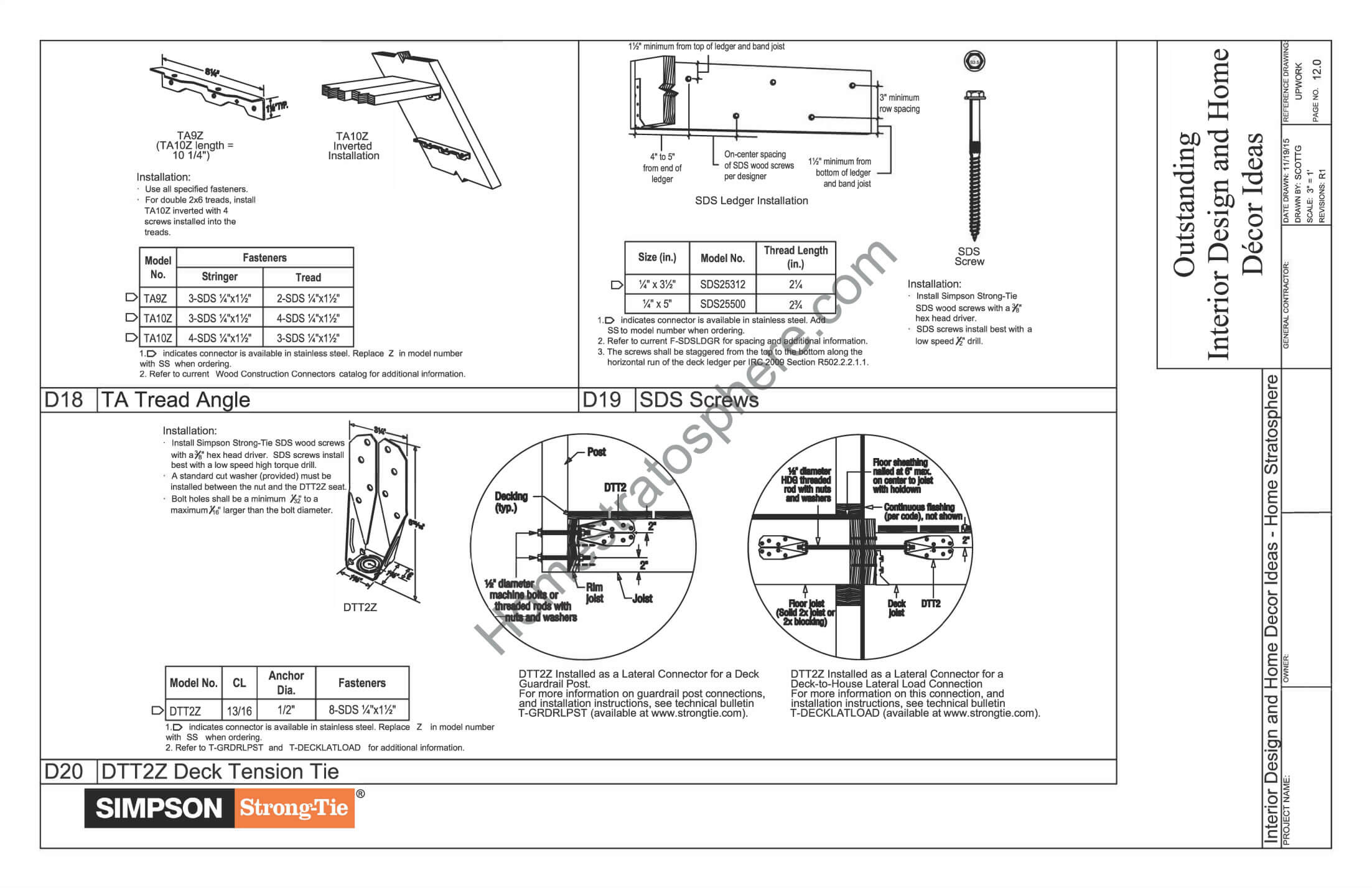General Notes, Materials and Checklists for Deck Design 6