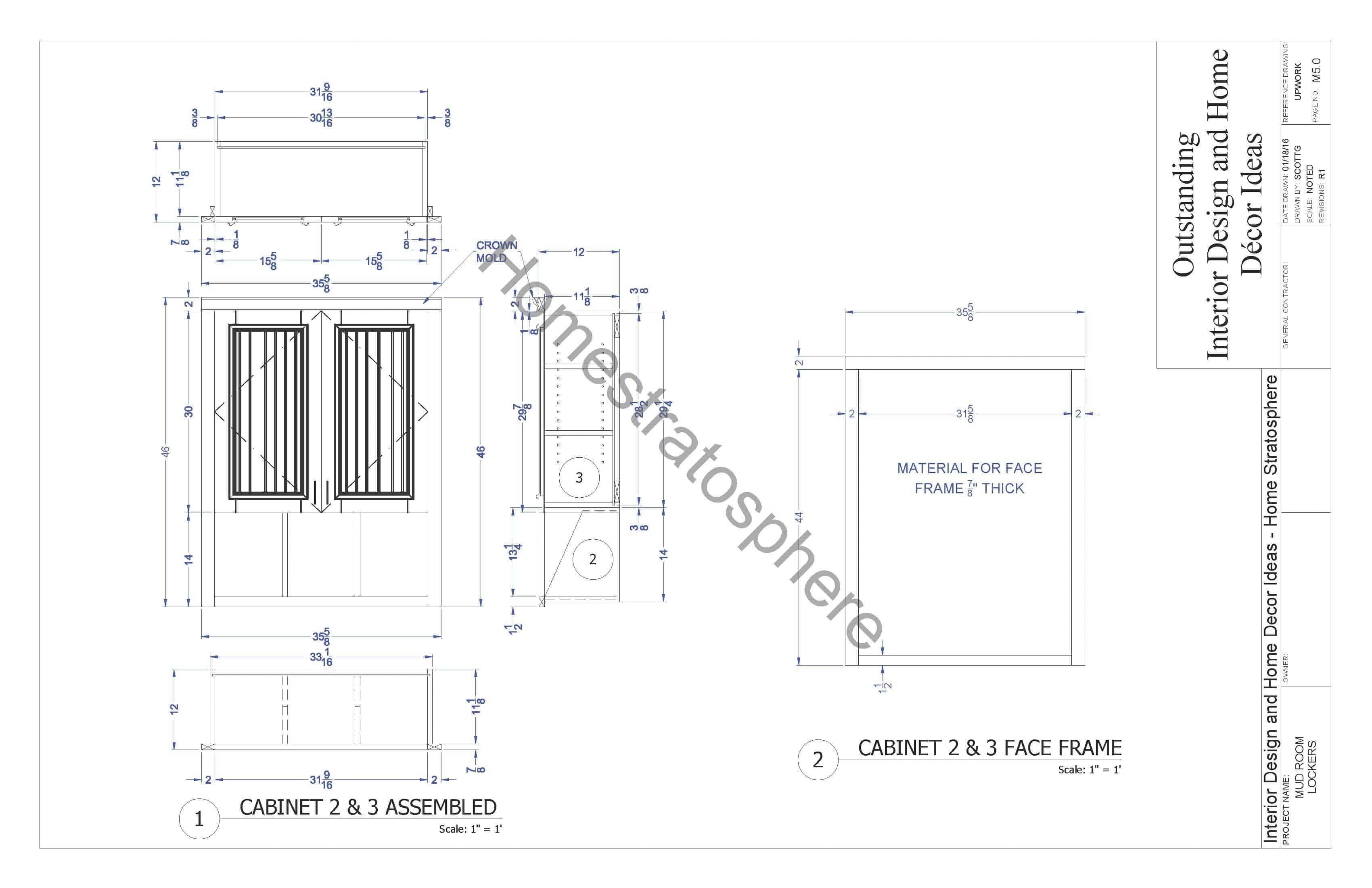 Mudroom Locker Design Blueprint