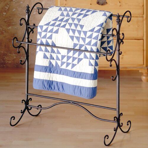 Decorative Wrought Iron Freestanding Quilt Stand