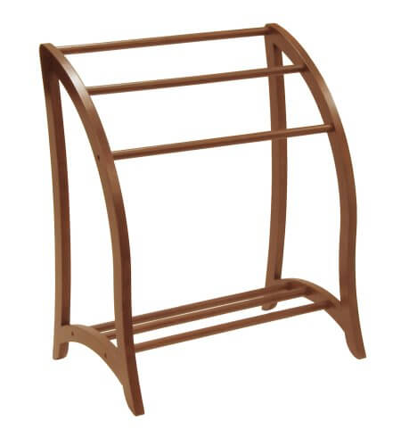 Curved Wooden 3-Bar Quilt Stand