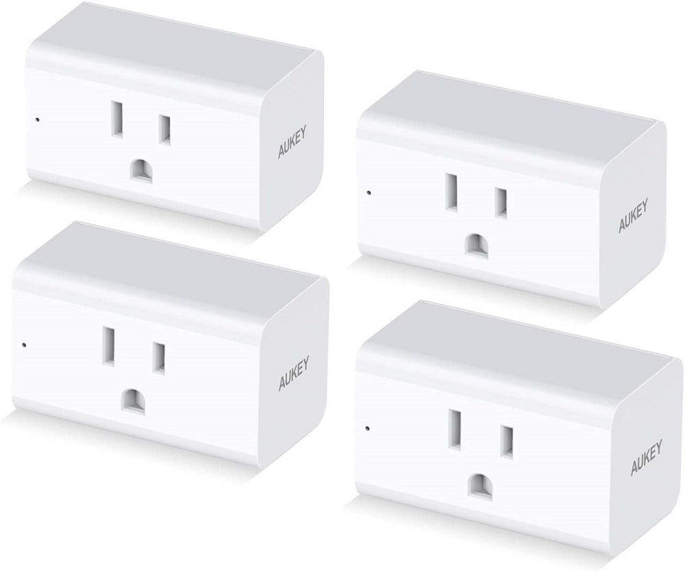 Samples of Aukey Wi-Fi Smart Plugs.