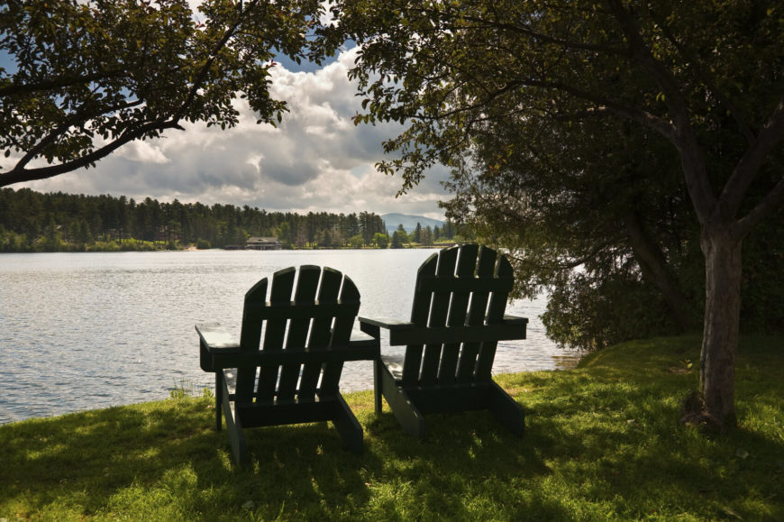 What better way to spend an afternoon than to sit in the cool breeze above a serene lake and watch the world drift by?