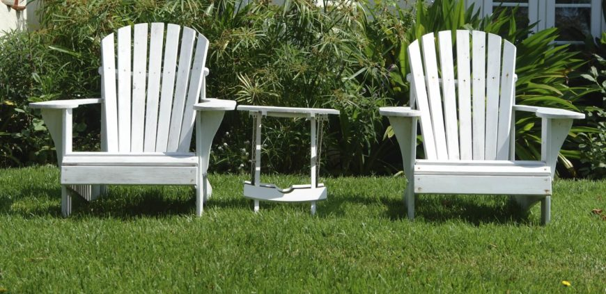 When you put your Adirondack chairs out in the fresh cut grass you can kick off your shoes and let your feet feel the soft blades. Let the grass slide between your toes as you sit back and take a load off.