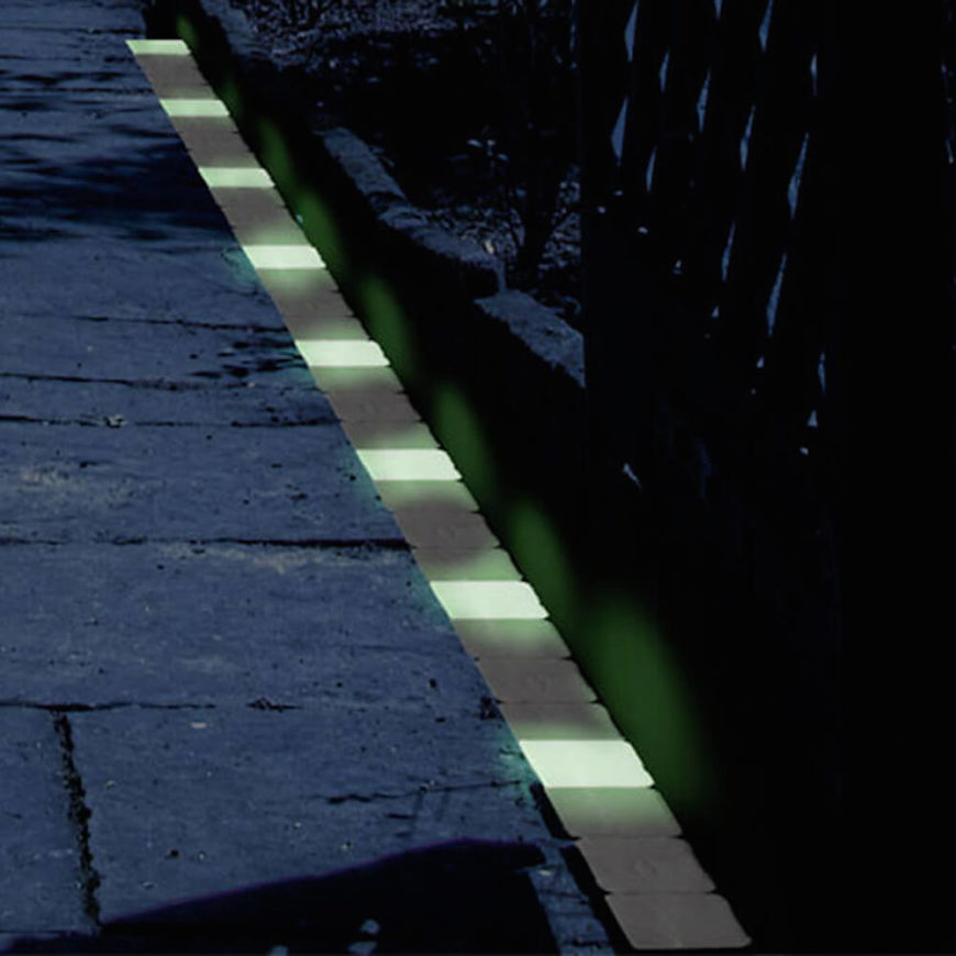 Lining a walkway with glow in the dark bricks is a brilliant idea. If you want your garden to have a natural moonlit feel at night, but still want people to watch where they are walking, glow in the dark bricks highlight the path without adding much light pollution to your space.