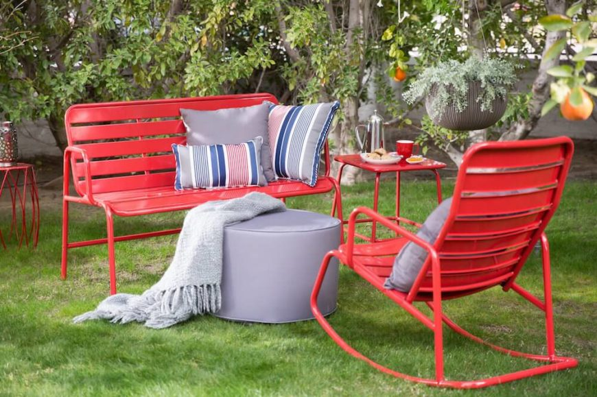 If you want your furniture to match, there are benches that come with additional matching seating. Benches don't have to stand alone nor do they have to be an accent piece.