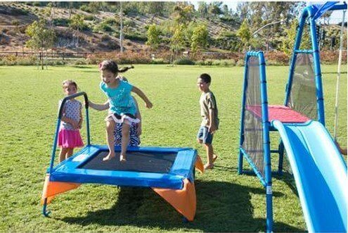 This is a great trampoline for very young children. It is short and padded. This is the ideal trampoline for little ones to get used to jumping on a trampoline.