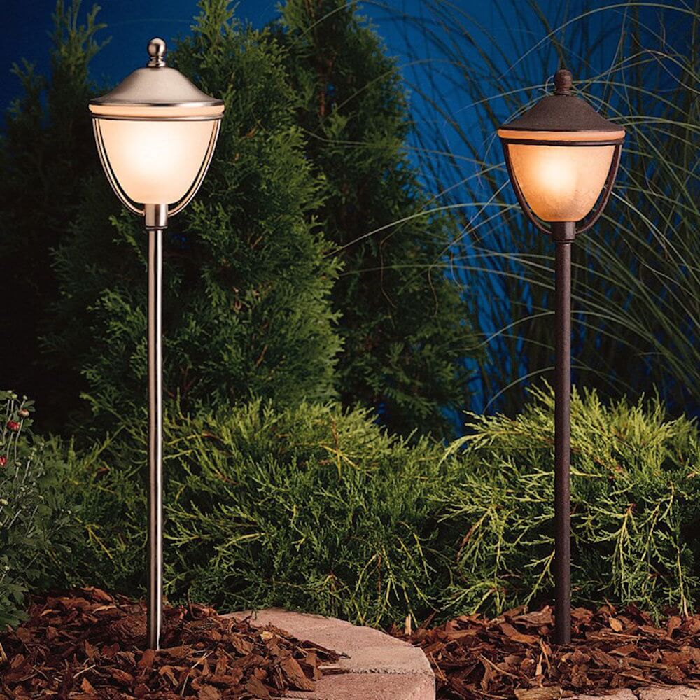 Here are a few lanterns that are very simple. If you want a lighting element that is functional and to the point, these are great options. This simple design is perfect for nearly any style of garden.