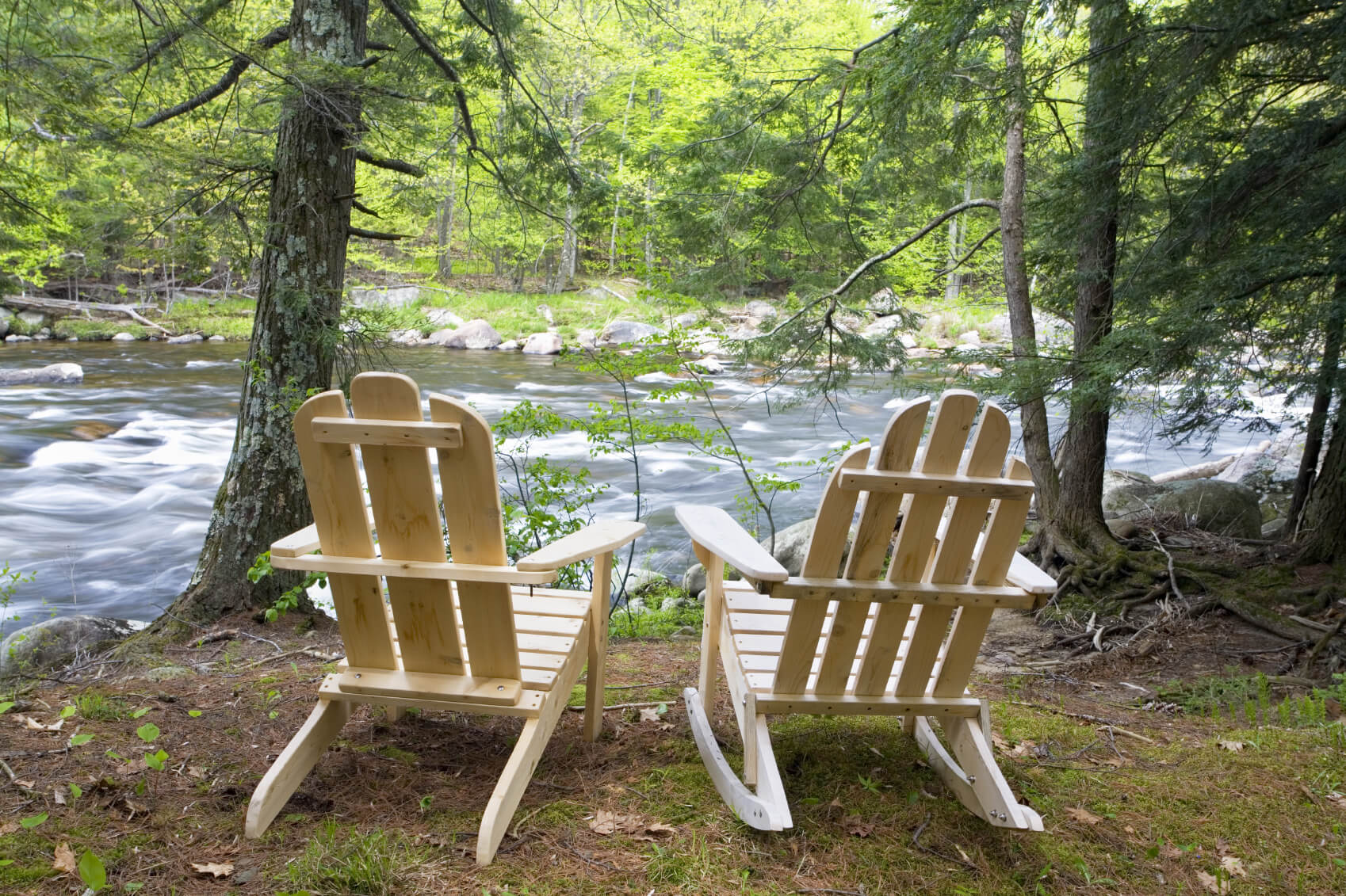 If you live by a river or other body of water, sitting in an Adirondack chair is a great way to lay back as you enjoy nature. Two of these chairs side by side is a perfect way to spend time with your significant other.