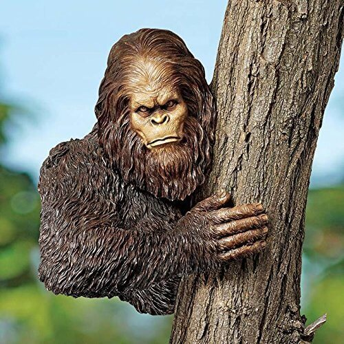 There are so many fun and silly backyard sculptures that you can adorn your yard with. While some people would rather have a classic Grecian statue in their fountain, you may prefer to have a sasquatch peeking out from behind a tree.