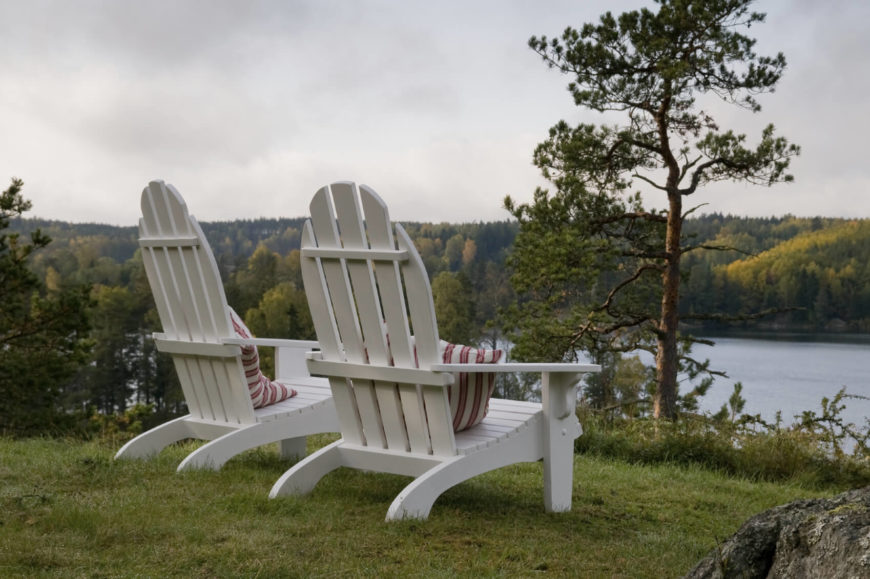 These chairs are the ideal chair to place on the top of a hill so that you can sit and look out over your property in peace and relaxation.
