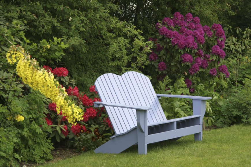 Some Adirondack chairs are double seated. With a model such as this, you can sit together with your significant other as you enjoy the garden in comfort.