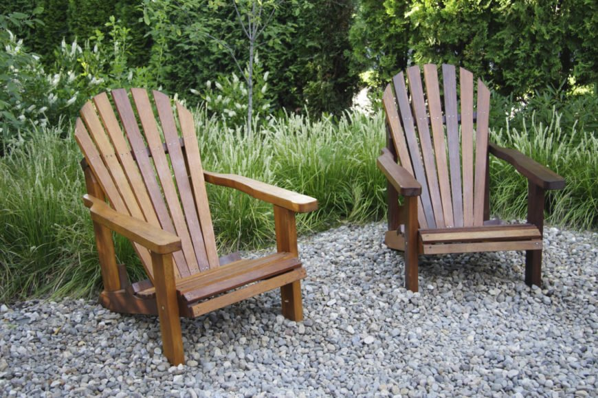 Here are a couple of Adirondack chairs that have a natural wooden appeal. Adirondack chairs come in many different styles, from the very colorful to a raw and natural wood style. Whatever the appeal of your yard or garden, there is a style of Adirondack chair that can fit your needs.