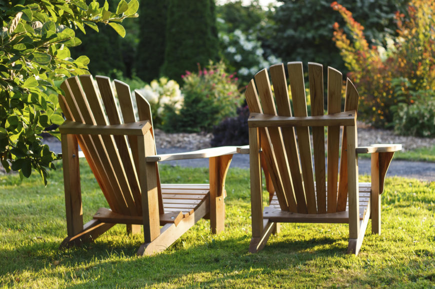 Adirondack chairs can be placed anywhere in the yard. Most chairs fit best around a table or on a patio. These chairs can be placed nearly anywhere and fit perfectly.