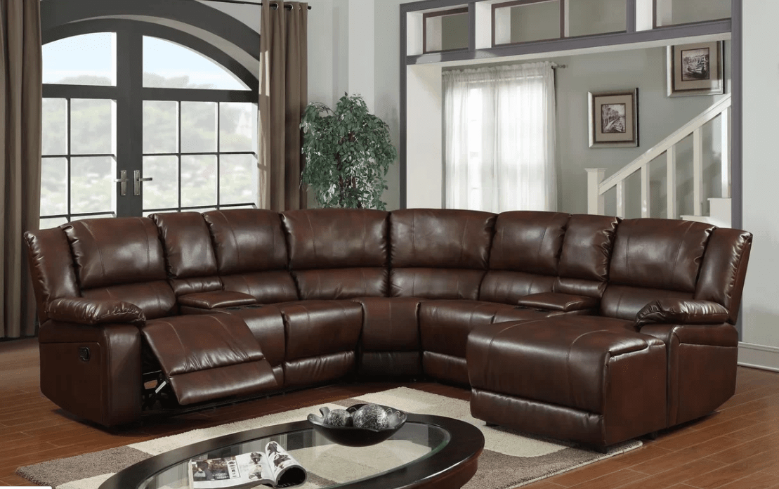 Cadence reclining sectional sofa for 5 people