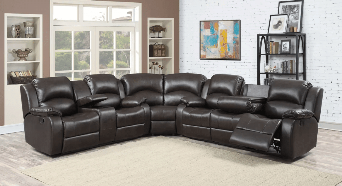 Huge recliner sofa with optional console