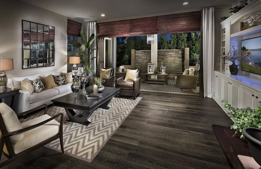 Wood flooring are the most classic and timeless flooring option. Wood is versatile and compatible with nearly all kinds of design.