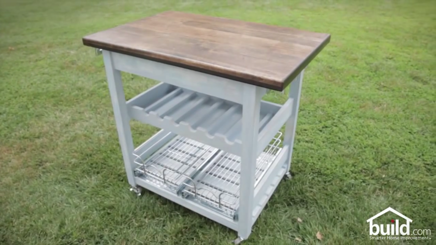Need a little extra preparation space in your kitchen? This adorable island is small enough to rest in the center of your kitchen and provide a centralized preparation space. Even better, it's on casters, so you can wheel it to wherever you need it!
