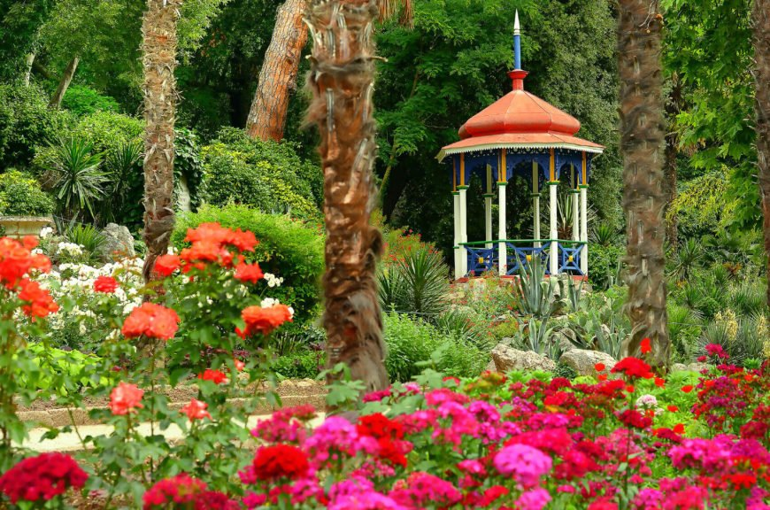 You can paint your gazebo to match your plants' colors. When you use bright colored flowers and paint your gazebo to match, you will have a unique space that really stands out.
