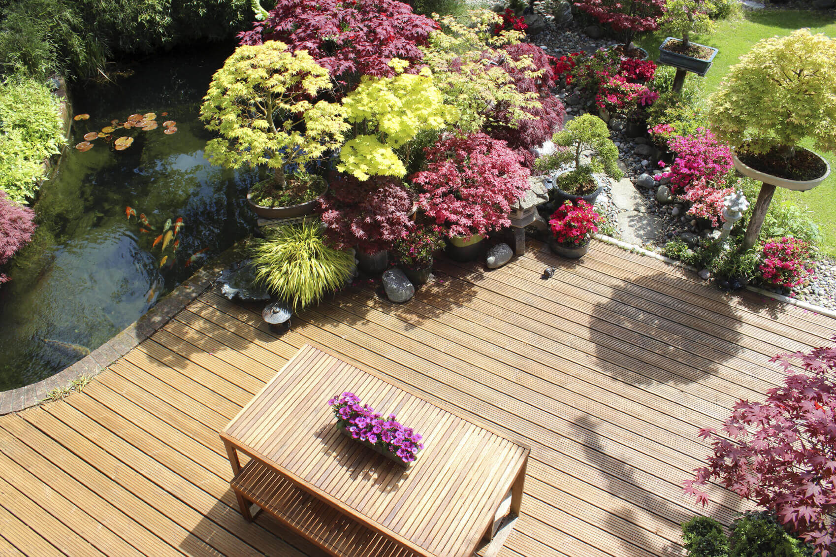 If your garden is small enough it can work as a centerpiece for an outdoor table. A satellite garden like this can even match your larger gardens and work to tie your entire design together.