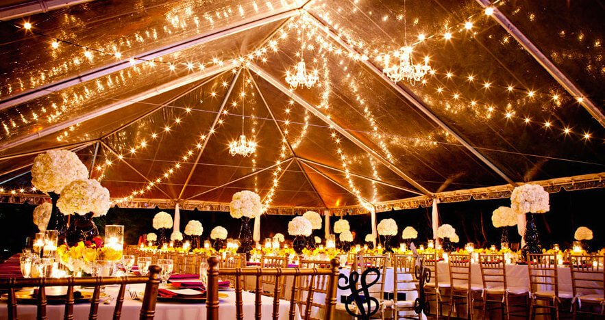 String lights add a glow to spaces and have a magical and dreamy feel. The right string lights can feel like fireflies in your gazebo. They provide a soft and warm lighting option as well as a inviting design element.