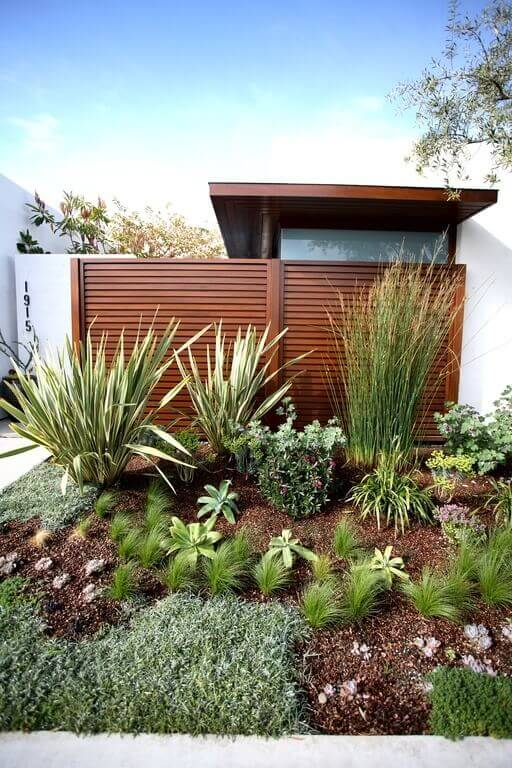 This garden area has a wide variety of grasses. It is a great palette of grasses that demonstrates the variability of texture, color, and shapes that can be added to your space.