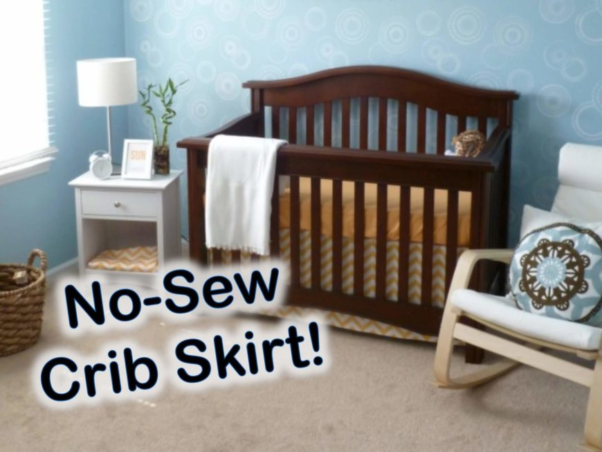 Crib skirts can be so expensive! This simple no-sew DIY is the perfect way to get the perfect look for your nursery without shelling out a lot of cash. This is a great DIY for inexperienced crafters!