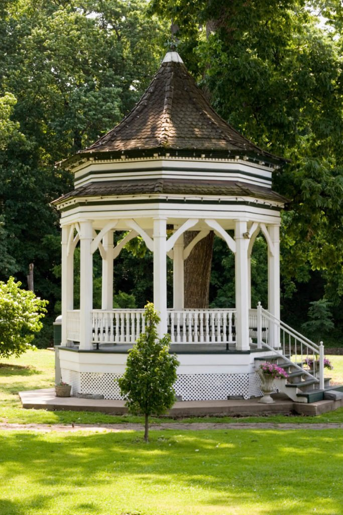 You may even lift up your gazebo if you want it to be elevated. A small set of stairs can bring you up to your gazebo that overlooks your entire property.