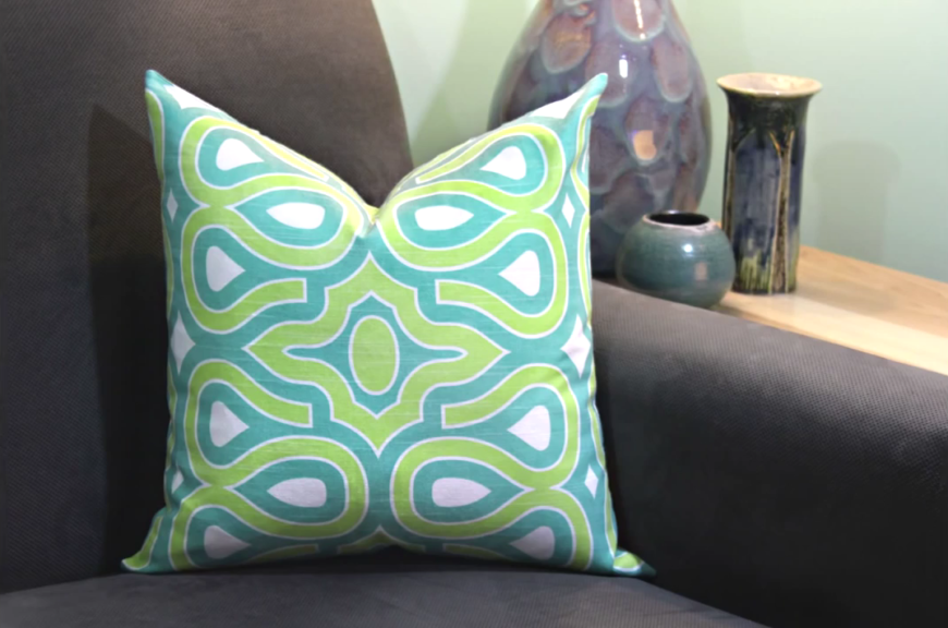 This awesome and easy video tutorial will have you sewing throw pillows for your bedroom that will keep your design fresh. Learning to sew your own throw pillows is a great cost-saver, since store-bought pillows can be incredibly expensive. Better yet, you won't have to worry about finding that perfect pillow; you can just make it!