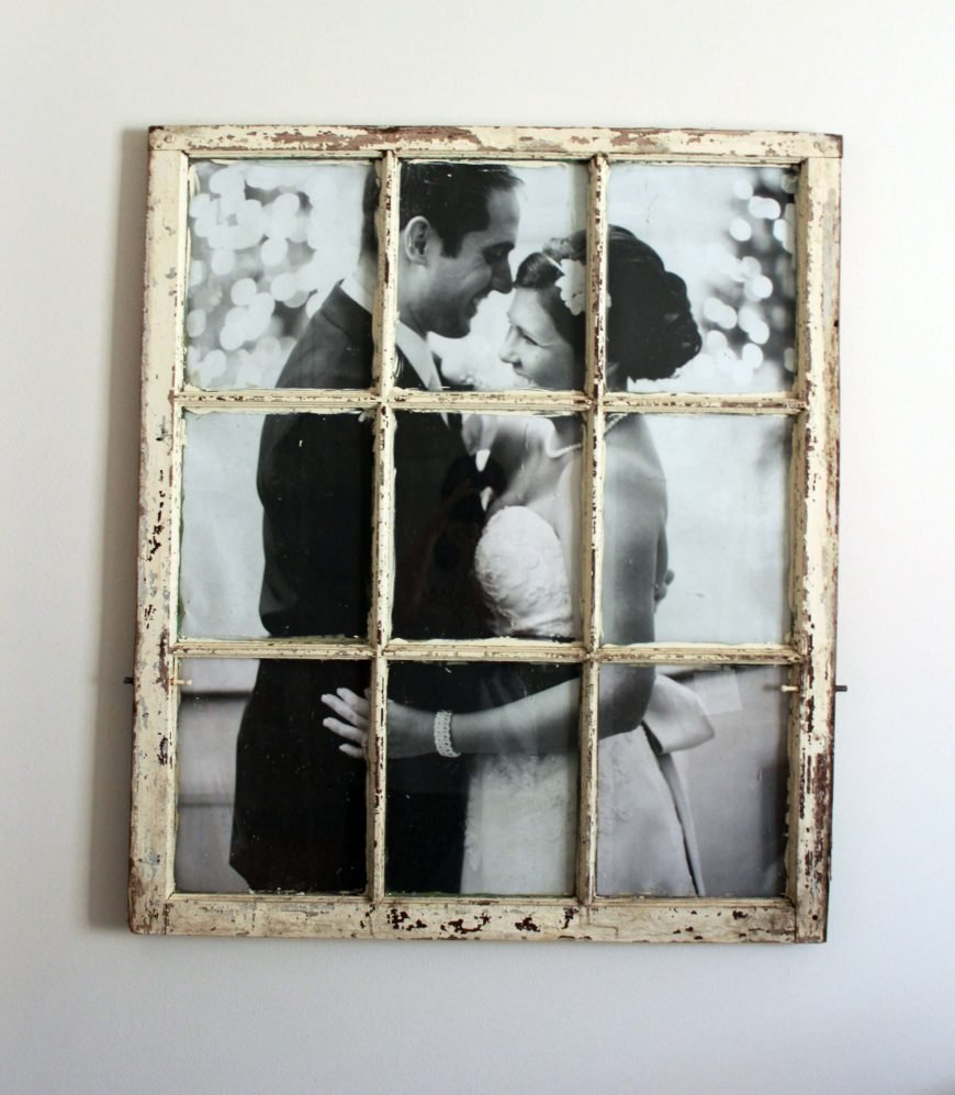 Looking for a unique way to display family photos in a distinctly vintage way? This simple DIY will have you displaying your favorite photos in a vintage window. Display one picture in each section, or one large image.