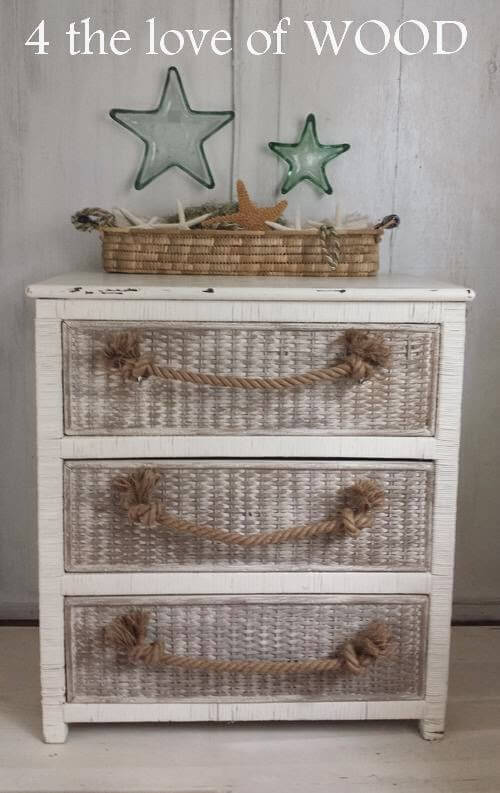 This adorable piece may be a dresser, but it would look fantastic in nearly any room, especially in the foyer to hold odds and ends.