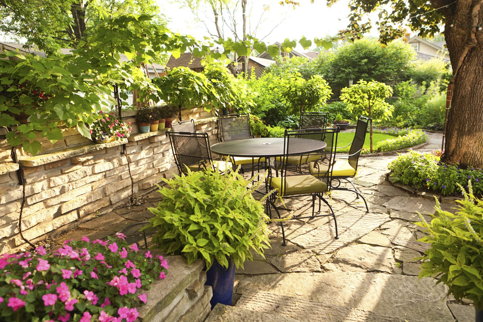 The great thing about small cohesive gardens is that they are easily organized. Your small garden will look precise and purposeful with less effort than it would take for a large garden.