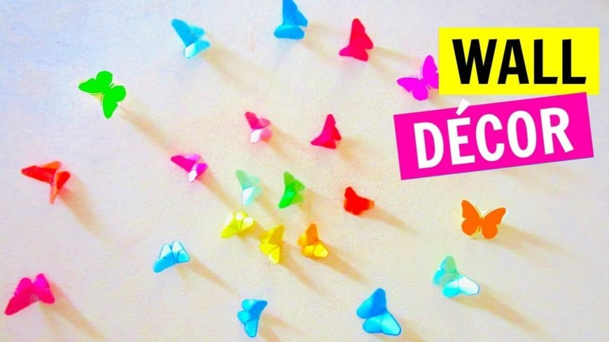 These origami butterflies are just gorgeous! This is a great craft to make with older children or teenagers—they'll love creating the butterflies out of colorful paper and using them to create patterns on the walls of their room!