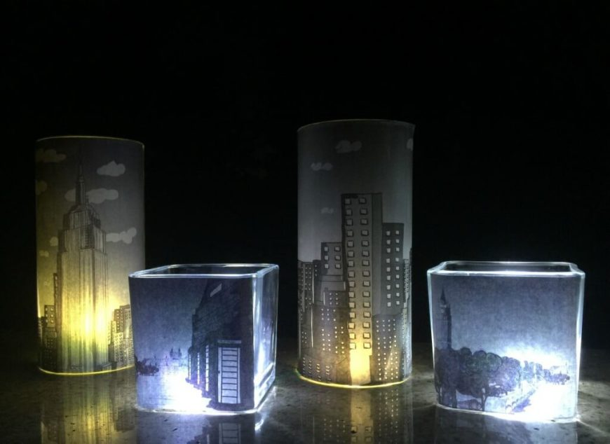 These lovely lights are simple to make and create an incredible soft luminary that's perfect for a metropolitan night light or just for mood lighting.