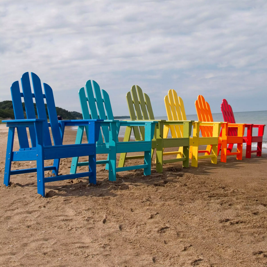Adirondack chairs are great for chilling out at the beach. This model of adirondack chair comes in a variety of colors, giving it the ability to fit in with various styles and designs.