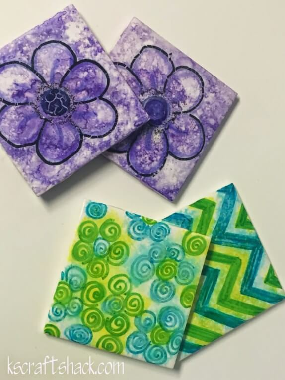 You won't believe how easy it is to DIY coasters with the perfect design! This project is something you can do on a rainy afternoon.