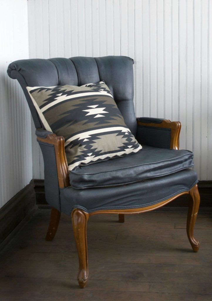 Reupholstering an old chair is a lot of work, so why not take an easier option and utilize fabric paint to makeover that old chair! Fabric paint works well for upholstery that is in good shape.