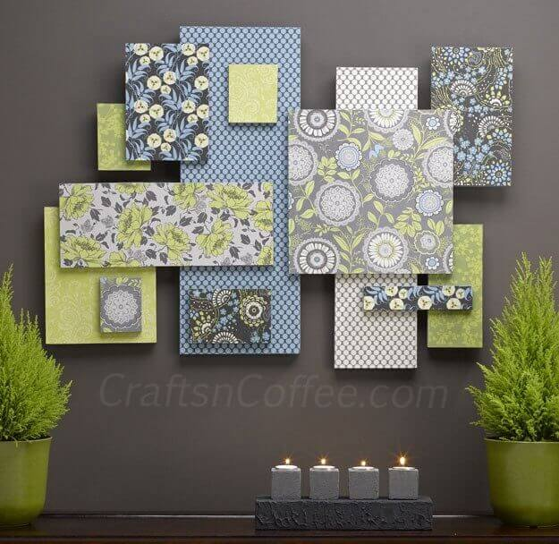 Creating a gallery wall is a great way to fill a wall in a living room, particularly when that wall is above a console table or behind a large sofa. This DIY will show you how to create a gallery wall using a color palette and a variety of patterns. Layering the pieces of the gallery wall creates incredible texture and volume.