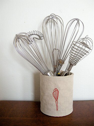 You'd never believe that this adorable utensil can was made from a recycled tin can! This is an easy DIY that will dress up your kitchen!