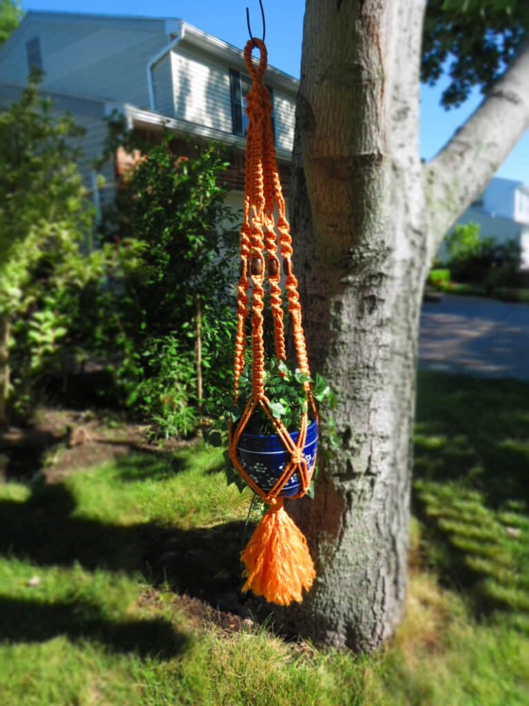 A rope plant hanger such as this is a fun and interesting element that will aid you in bringing life to your space.