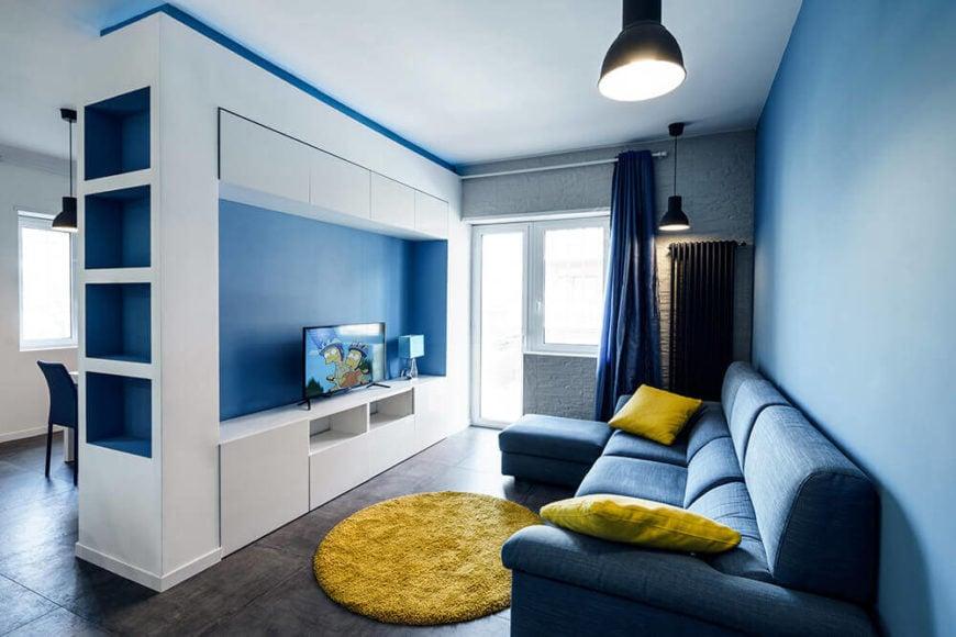 Prismatic Blue Apartment In Rome