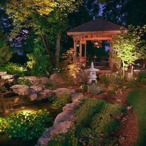 Japanese gardens are a very specific kind of garden with particular elements coordinated in perfect balance. The right gazebo is important so as not to offset the balance and dynamics of this garden style.