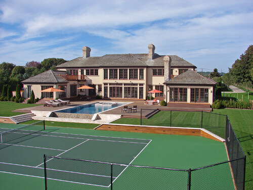 Fences are important in tennis courts. A fence can help prevent you from losing balls as well as prevent damage if there are breakable things around your tennis court.