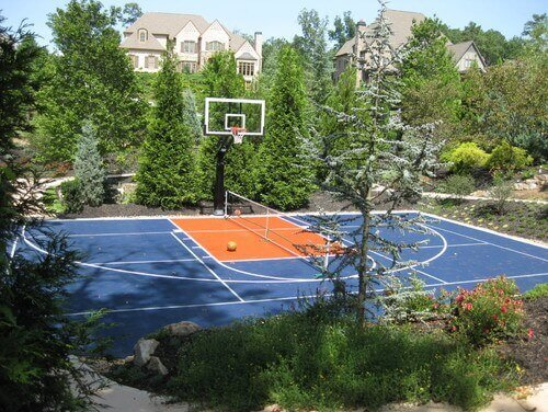 When you have a mixed use sports court it can be tricky to decide which paint scheme you want to go with. Different sports may have conflicting court lines. Basketball and tennis courts have a slight conflict of lines but not enough to be completely confusing.